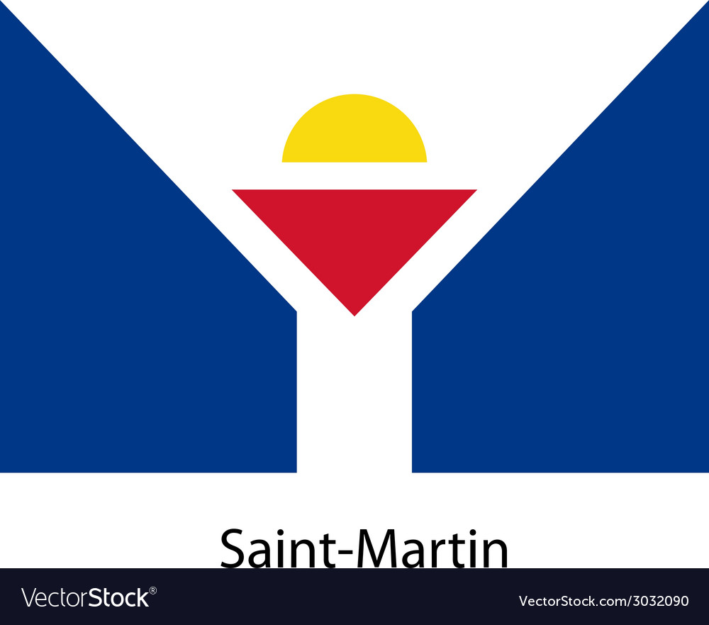 Flag of the country saint martin vector | Price: 1 Credit (USD $1)