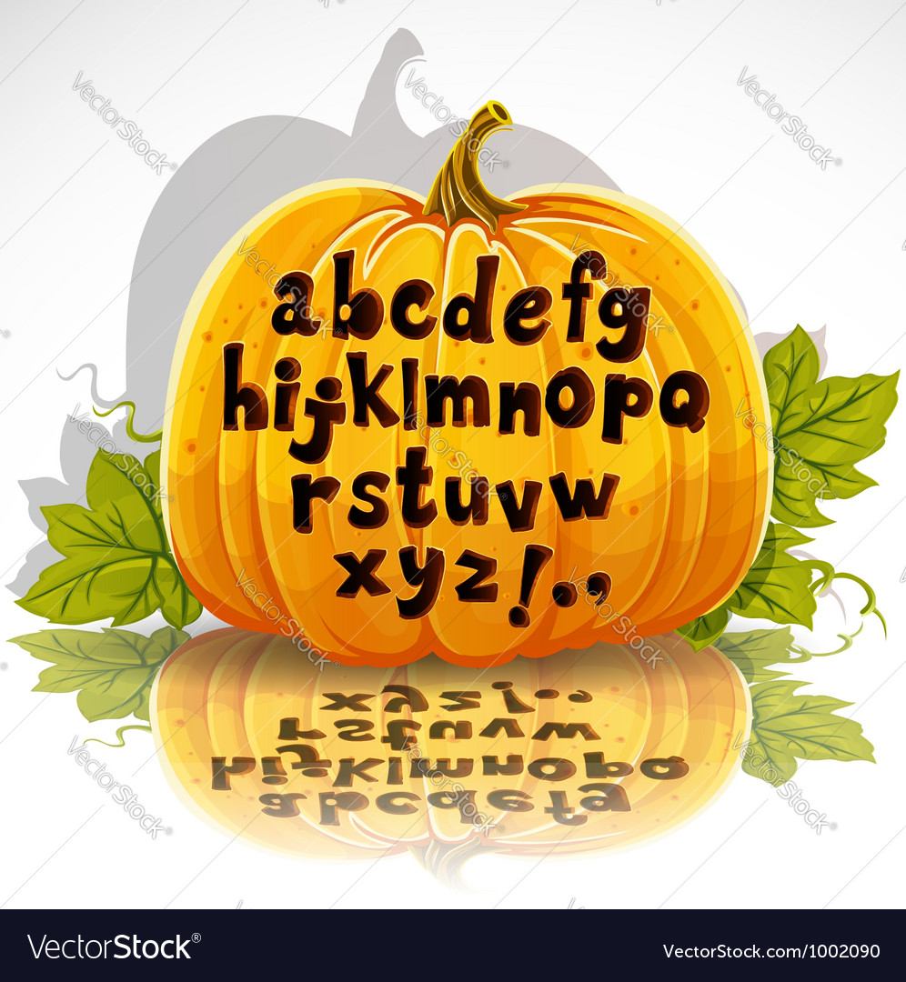 Happy halloween cut out pumpkin small letters vector | Price: 1 Credit (USD $1)