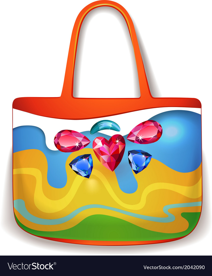 Lady summer holiday hand bag vector | Price: 1 Credit (USD $1)
