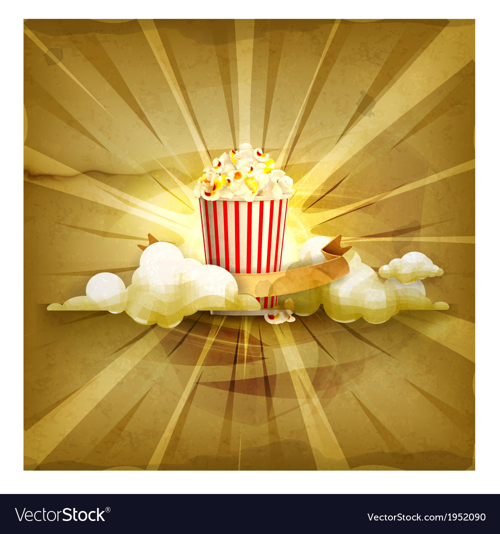 Popcorn old style background vector | Price: 1 Credit (USD $1)