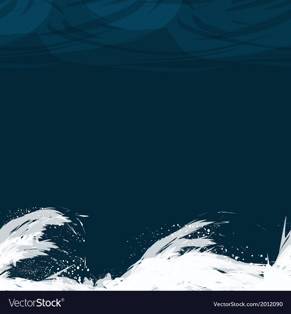 Seamless pattern with waves in the night vector | Price: 1 Credit (USD $1)