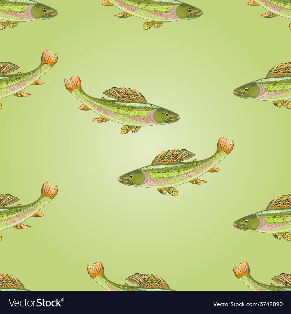 Seamless texture salmon grayling carnivore vector | Price: 1 Credit (USD $1)