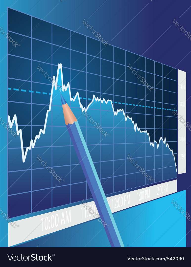 Stock market vector | Price: 3 Credit (USD $3)