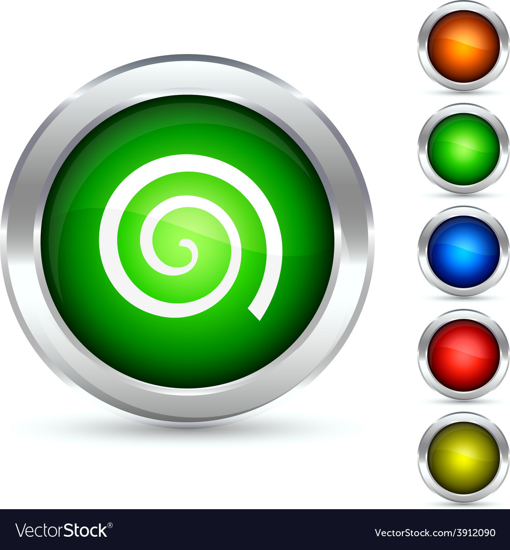 Swirl button vector | Price: 1 Credit (USD $1)