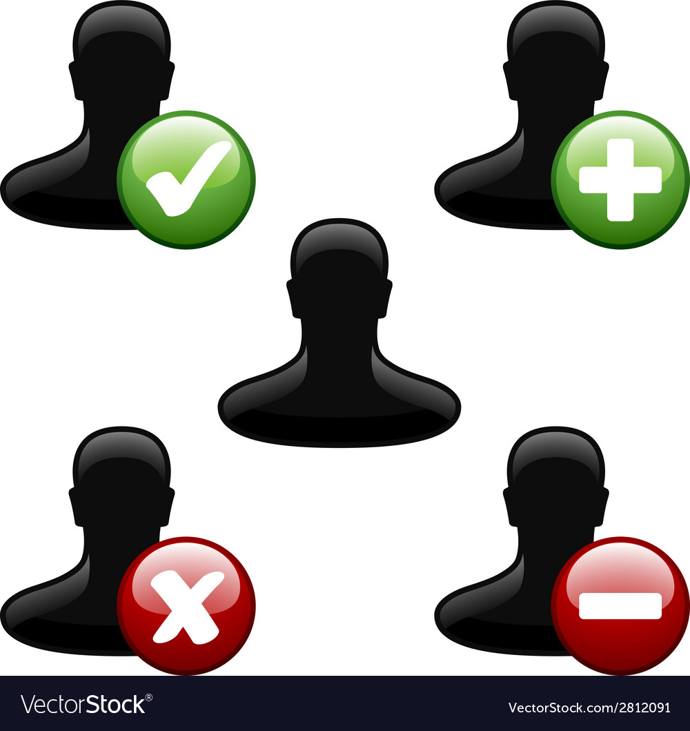 Add delete user icons vector | Price: 1 Credit (USD $1)