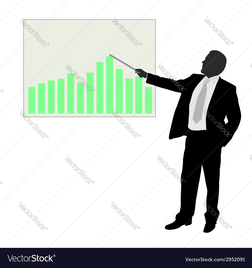 Businessman showing presentation vector | Price: 1 Credit (USD $1)