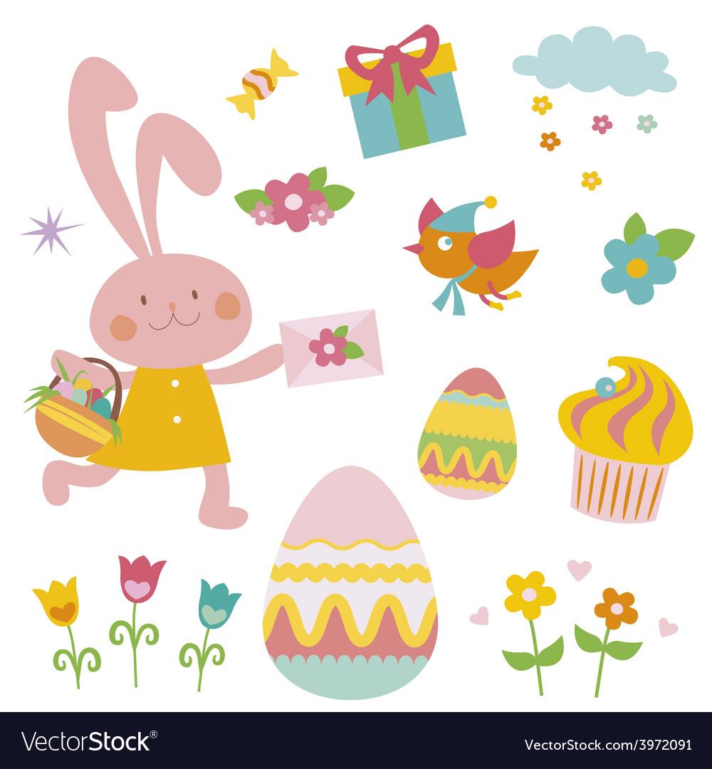 Easter cartoon clip art vector | Price: 1 Credit (USD $1)