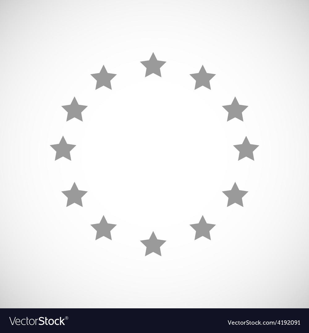 European union black icon vector | Price: 1 Credit (USD $1)