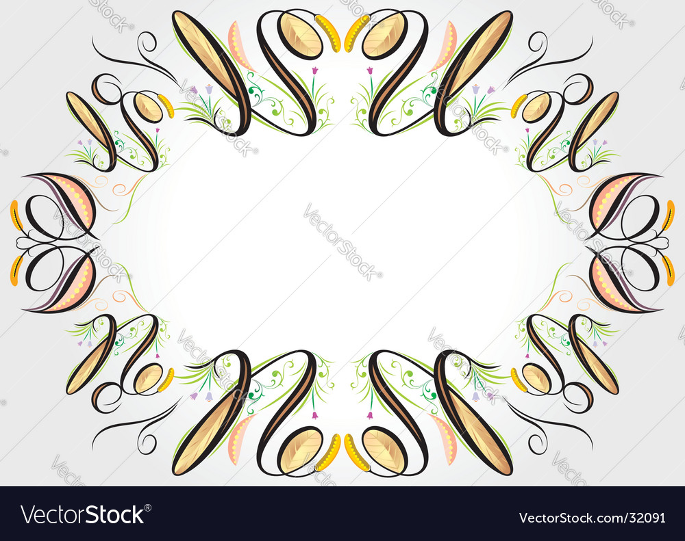 Floral elements frame vector | Price: 1 Credit (USD $1)