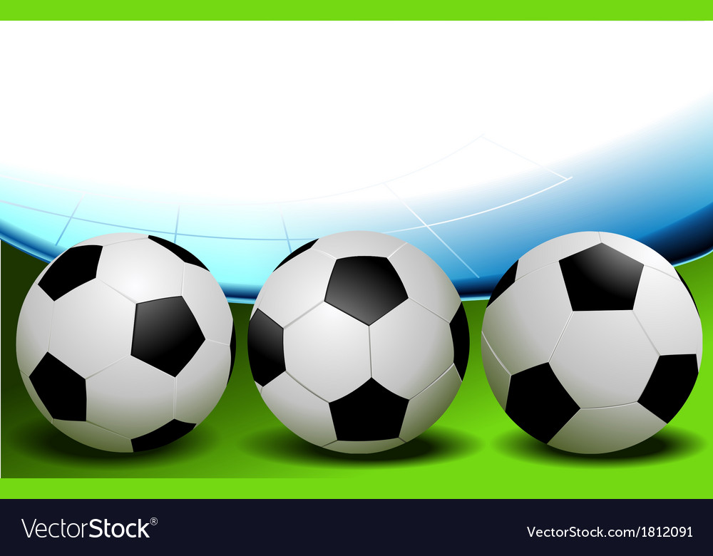 Football - three balls vector | Price: 1 Credit (USD $1)