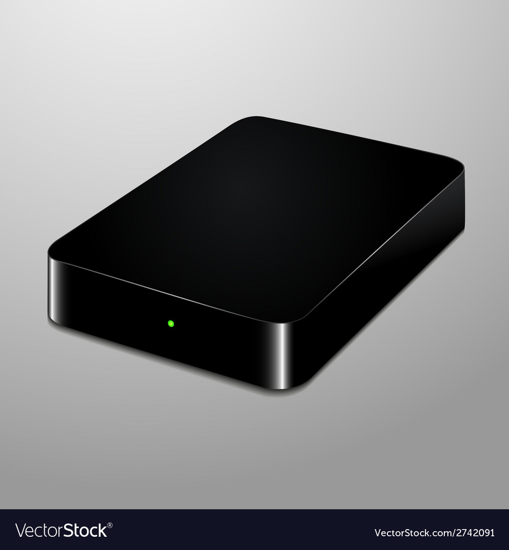 Realistic of an external hard disc vector | Price: 1 Credit (USD $1)