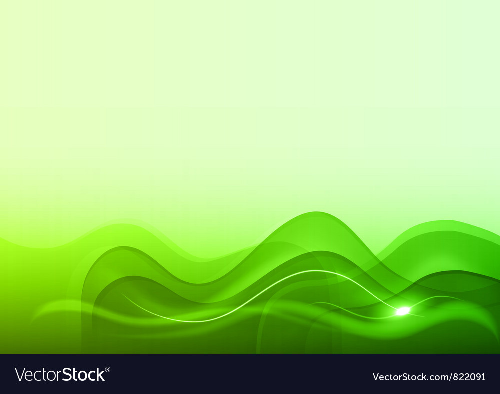 Wave neon light white green vector | Price: 1 Credit (USD $1)