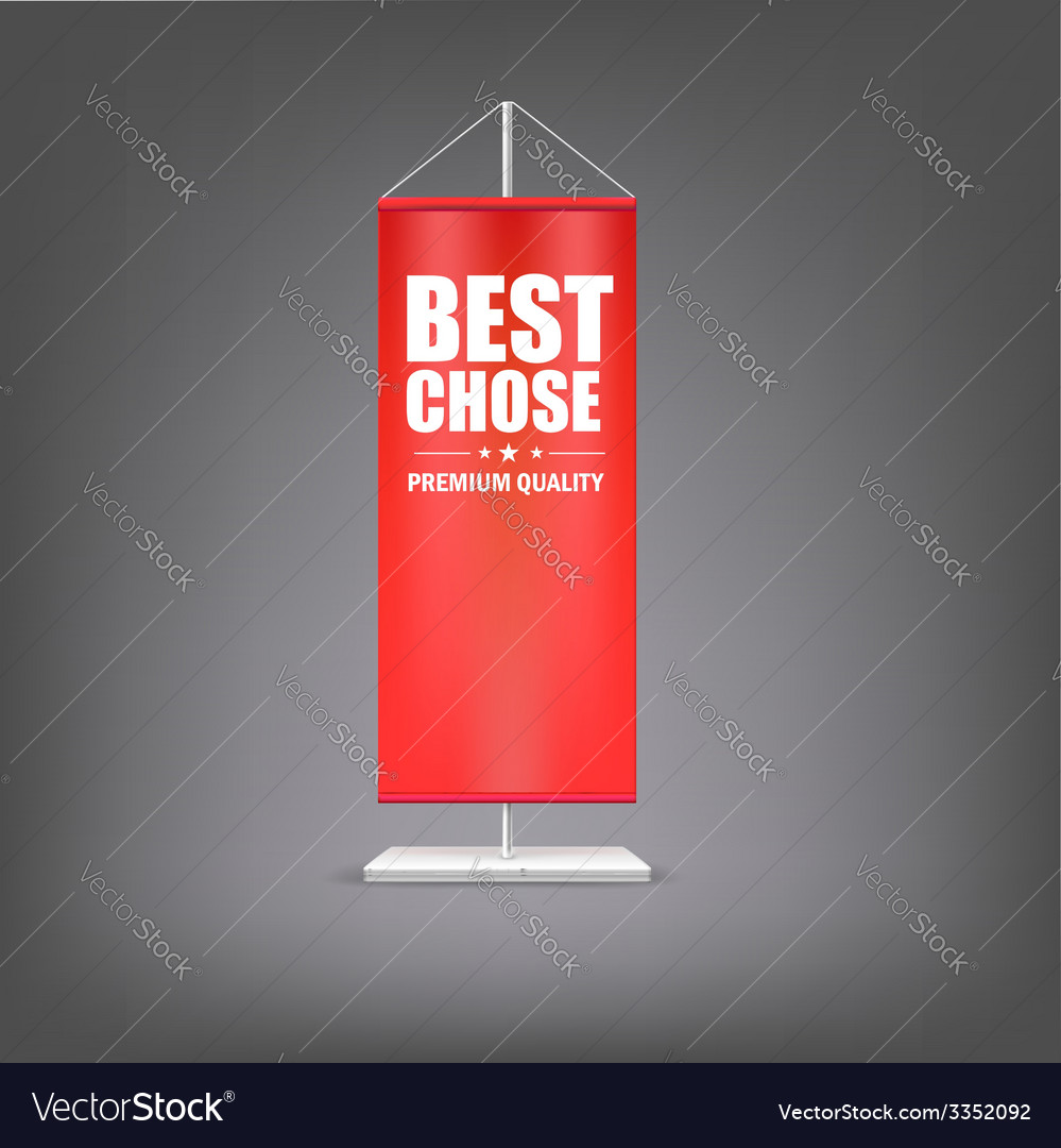 Best chose vertical red flag at the pillar vector | Price: 1 Credit (USD $1)