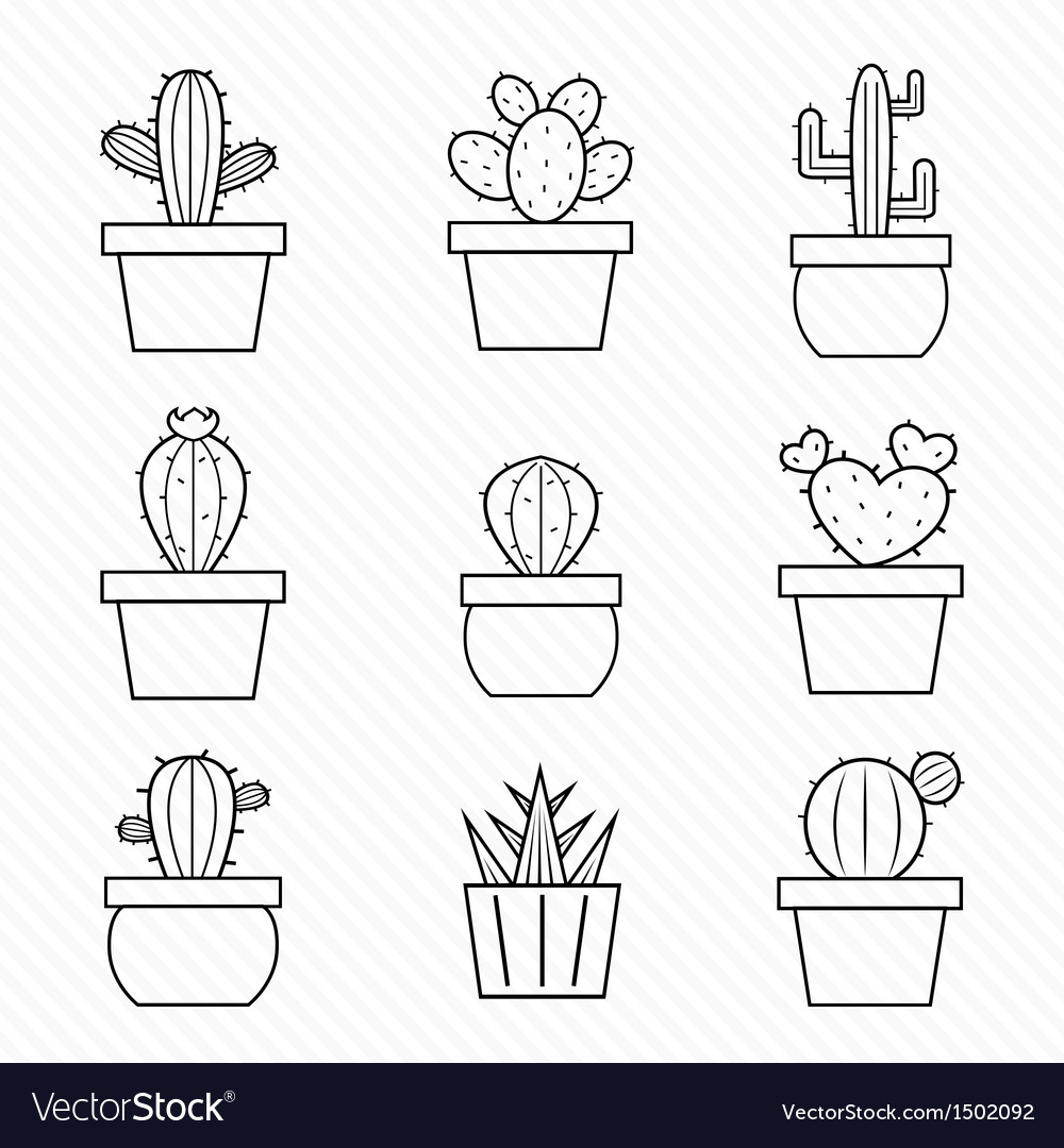 Cactus vector | Price: 1 Credit (USD $1)