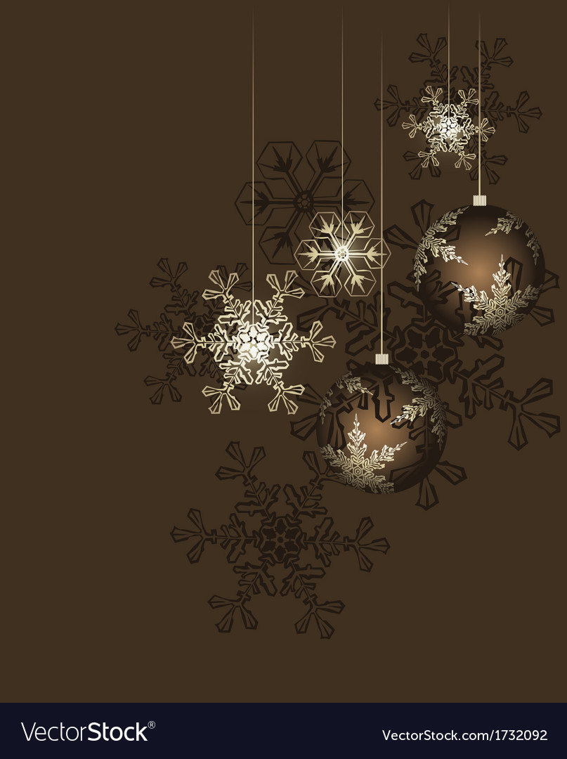 Christmas decoration with stars vector | Price: 1 Credit (USD $1)