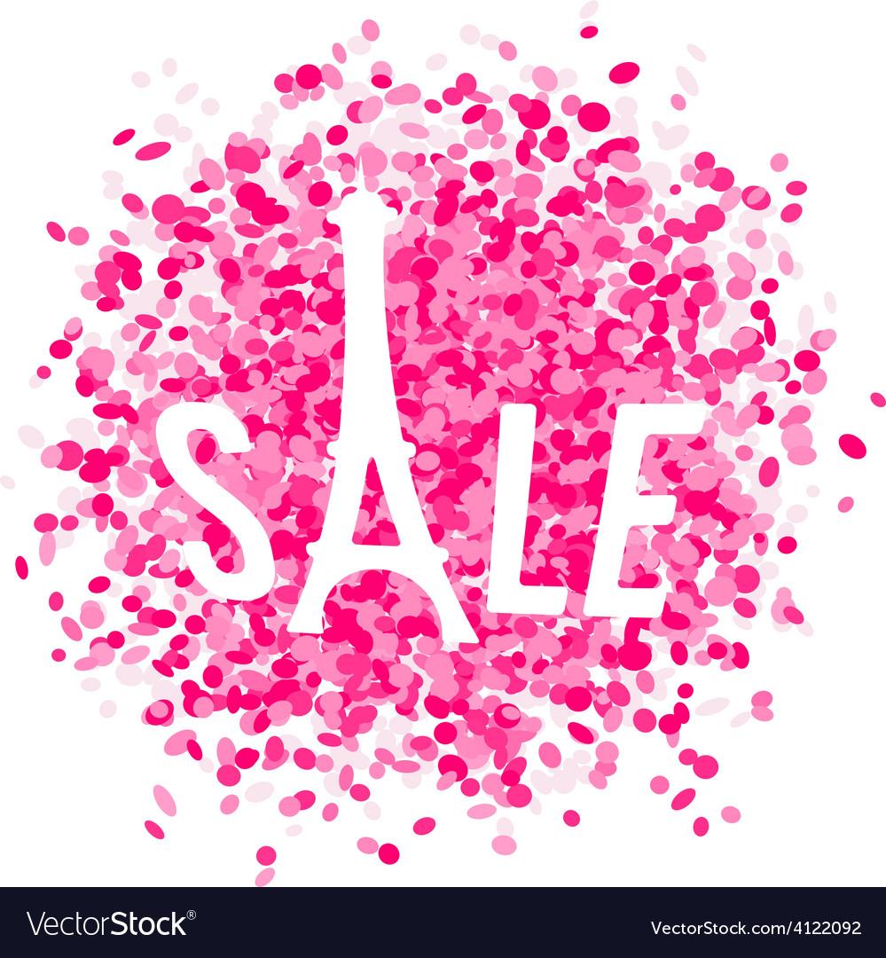 Eiffel shape sale vector | Price: 1 Credit (USD $1)