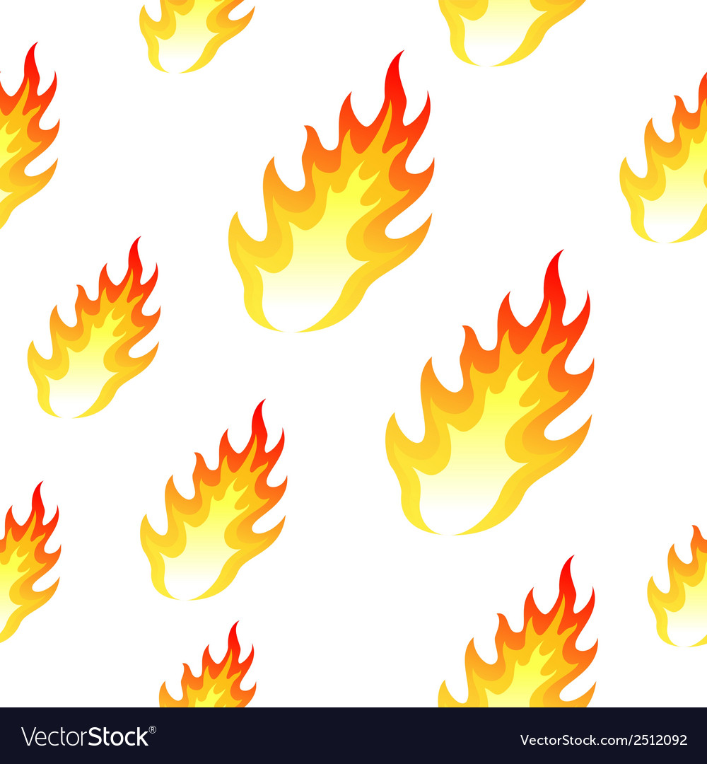 Flame fire seamless background vector | Price: 1 Credit (USD $1)