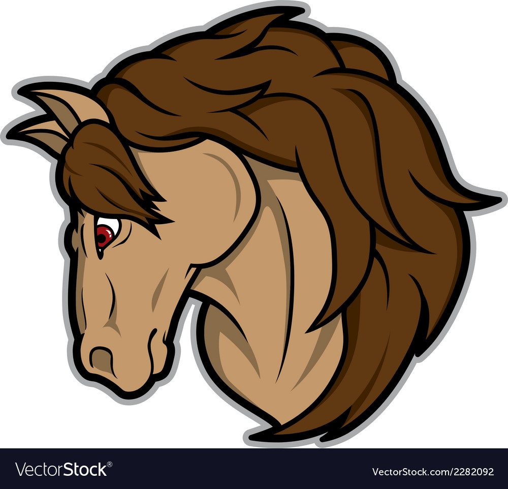 Horse mascot vector | Price: 1 Credit (USD $1)