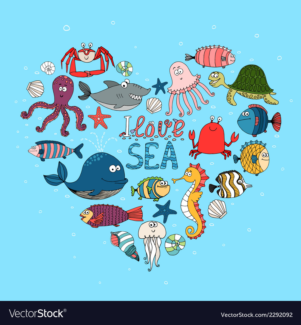 I love sea nautical themed design vector | Price: 1 Credit (USD $1)
