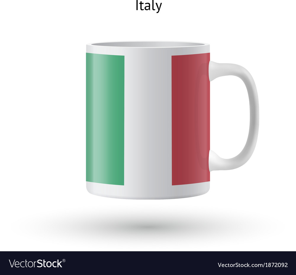Italy flag souvenir mug on white background vector | Price: 1 Credit (USD $1)