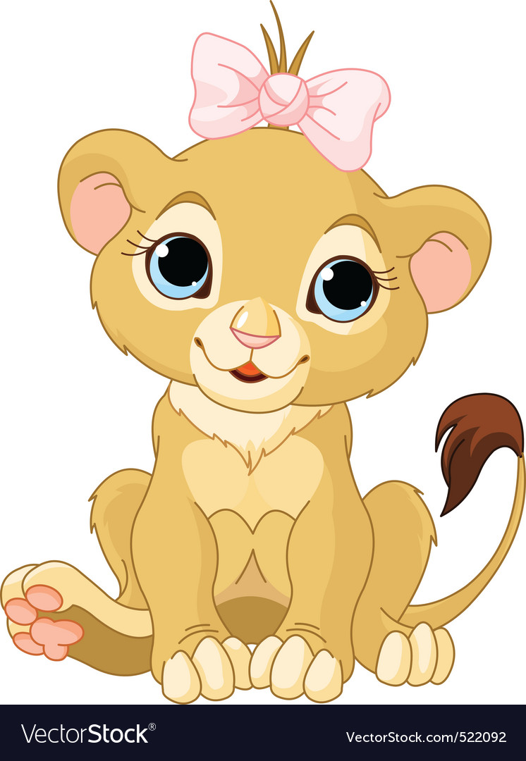 Lion girl cub vector | Price: 3 Credit (USD $3)