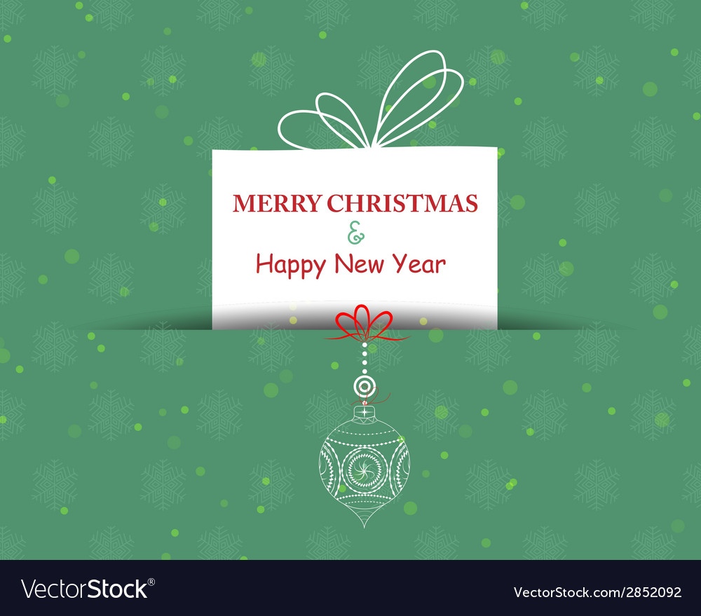 Merry christmas card background vector | Price: 1 Credit (USD $1)