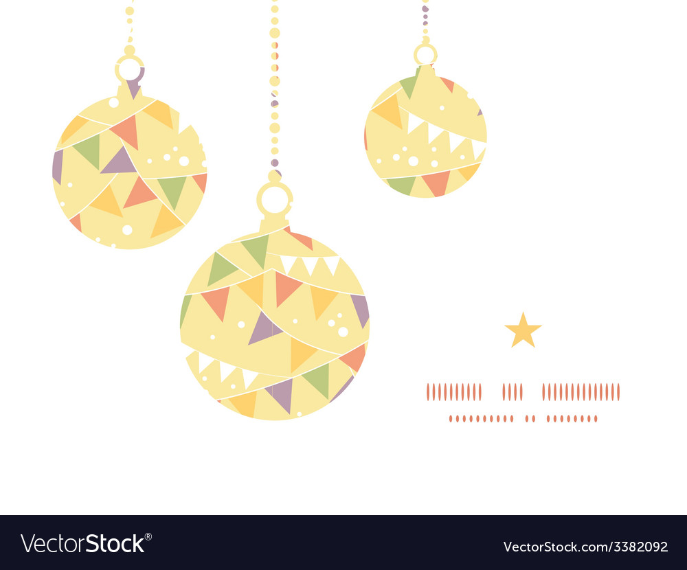 Party decorations bunting christmas ornaments vector | Price: 1 Credit (USD $1)