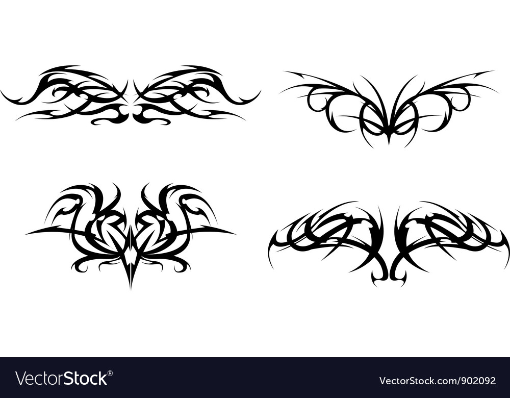 Tribal tattoo designs set vector | Price: 1 Credit (USD $1)