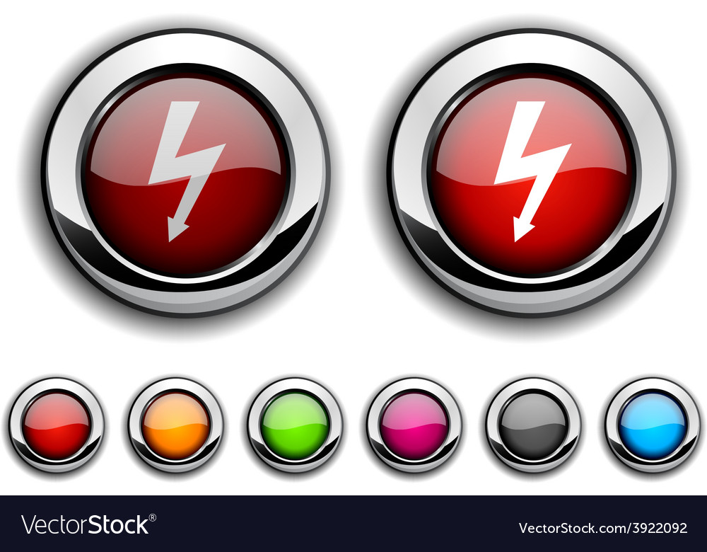 Warning button vector | Price: 1 Credit (USD $1)