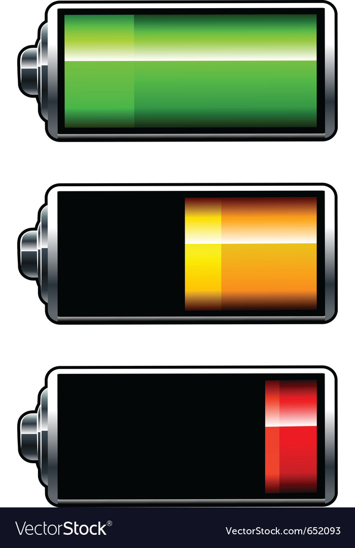 Batteries icons vector | Price: 1 Credit (USD $1)