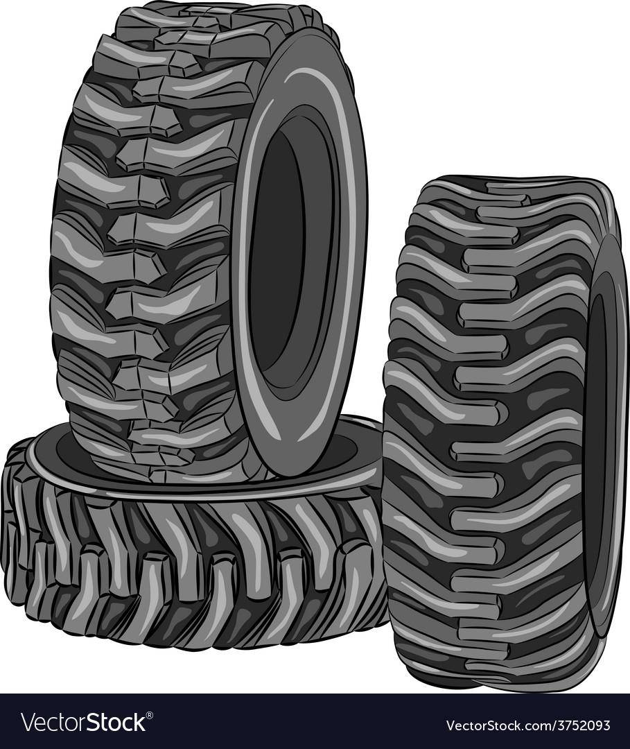 Car tires vector | Price: 1 Credit (USD $1)