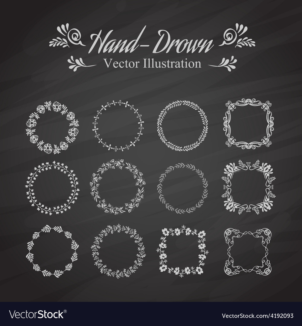 Circle floral borders vector | Price: 1 Credit (USD $1)