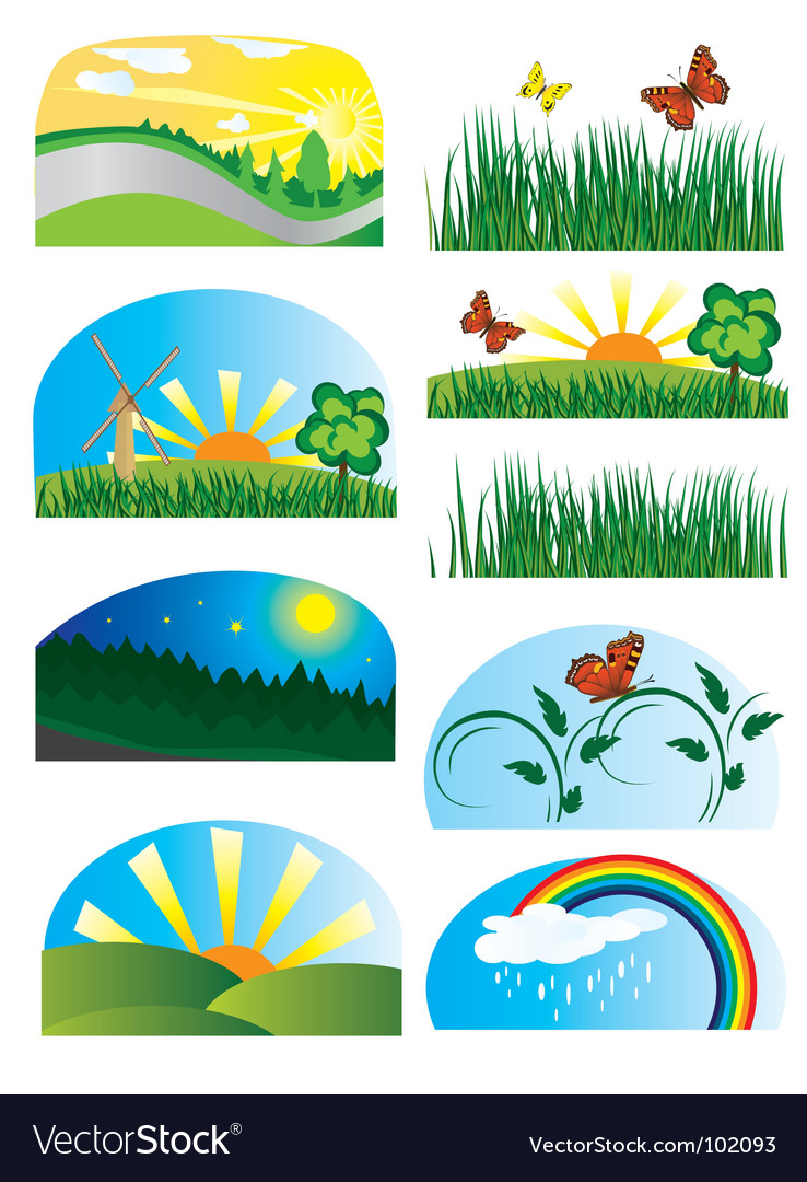 Collection of elements of nature vector | Price: 1 Credit (USD $1)