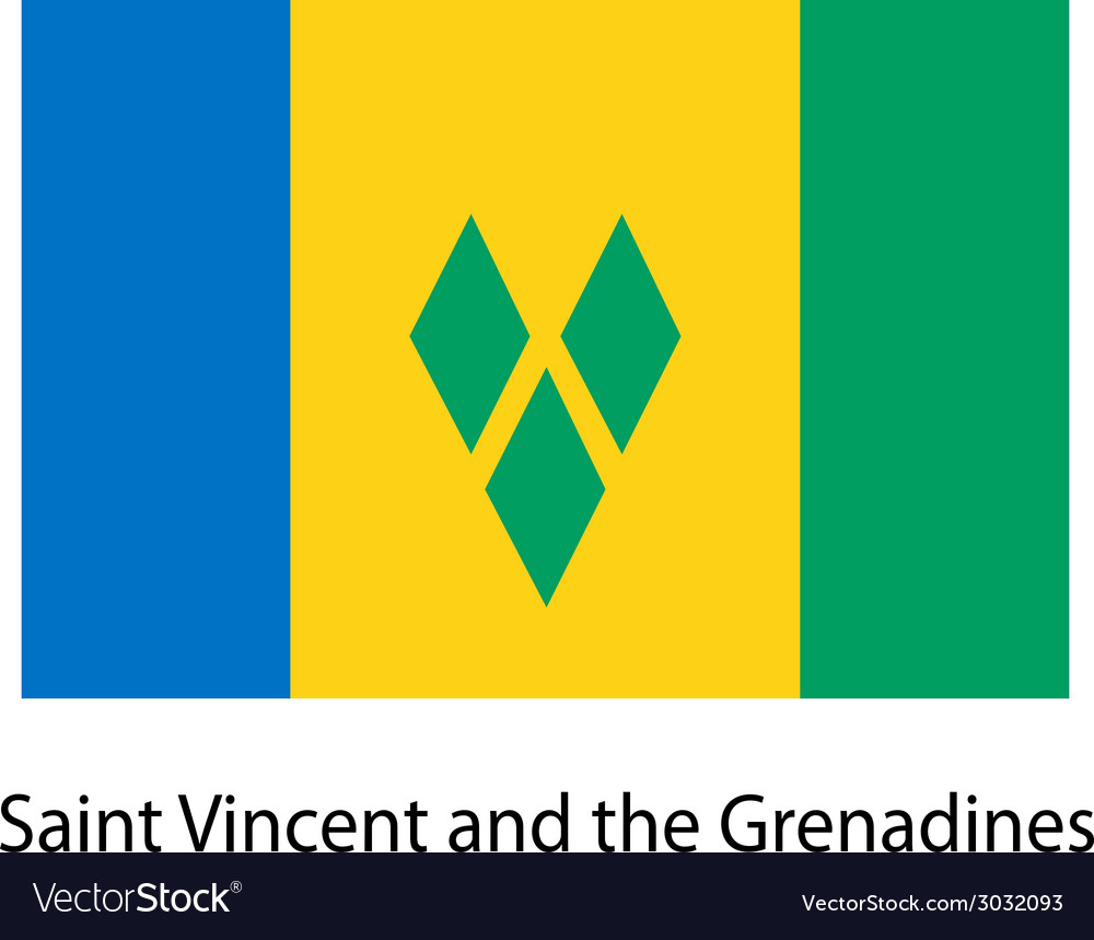 Flag of the country saint vincent and grenadines vector   Price: 1 Credit (USD $1)