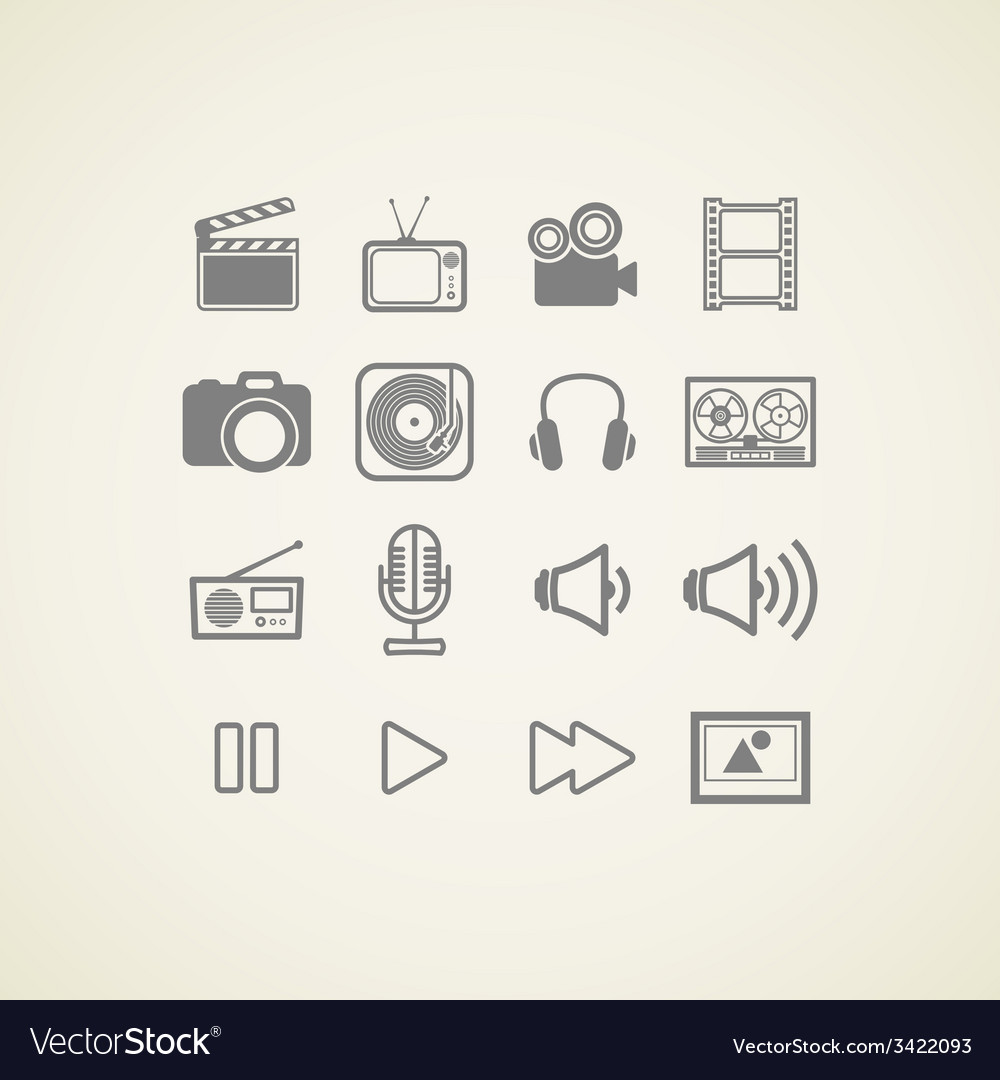 Icons with creative industry items vector | Price: 1 Credit (USD $1)