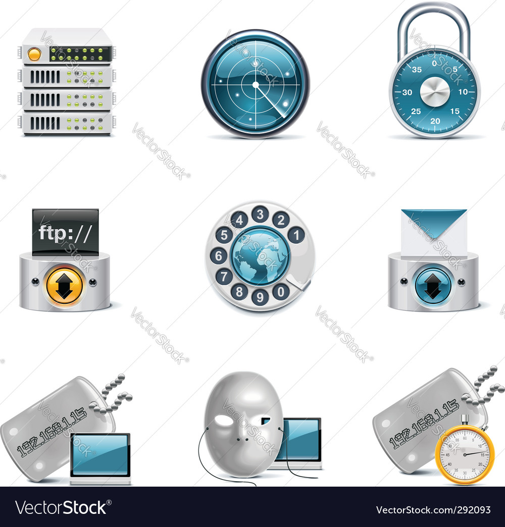 Internet and network icons vector | Price: 5 Credit (USD $5)