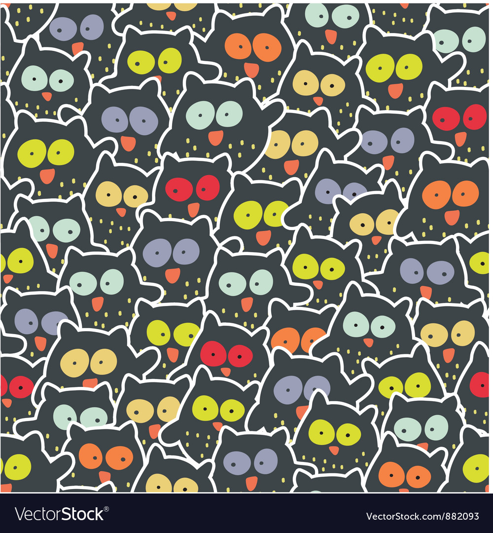 Owl mess vector | Price: 1 Credit (USD $1)