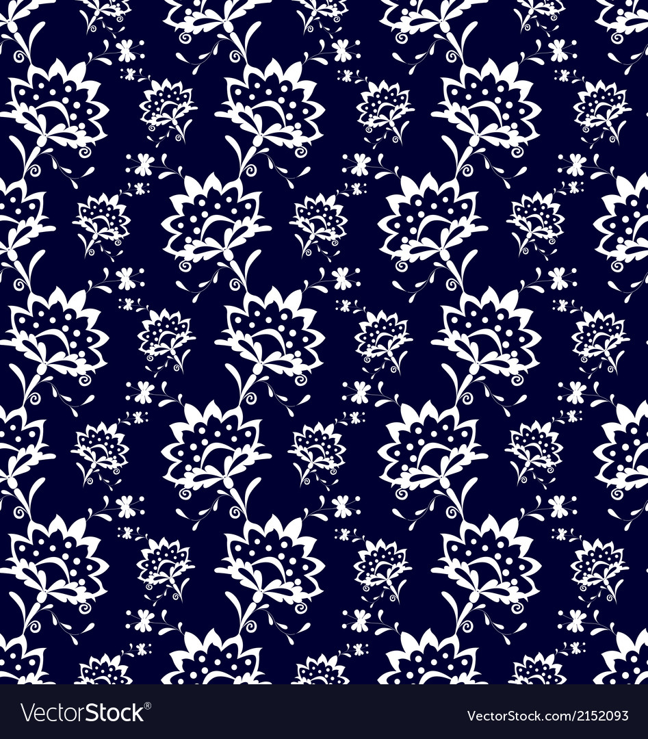 Porcelain flowers vector | Price: 1 Credit (USD $1)