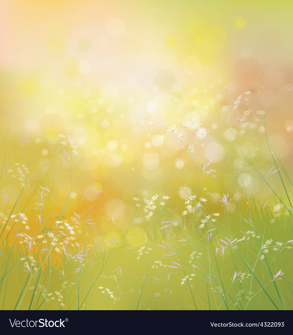 Spring nature background vector | Price: 1 Credit (USD $1)