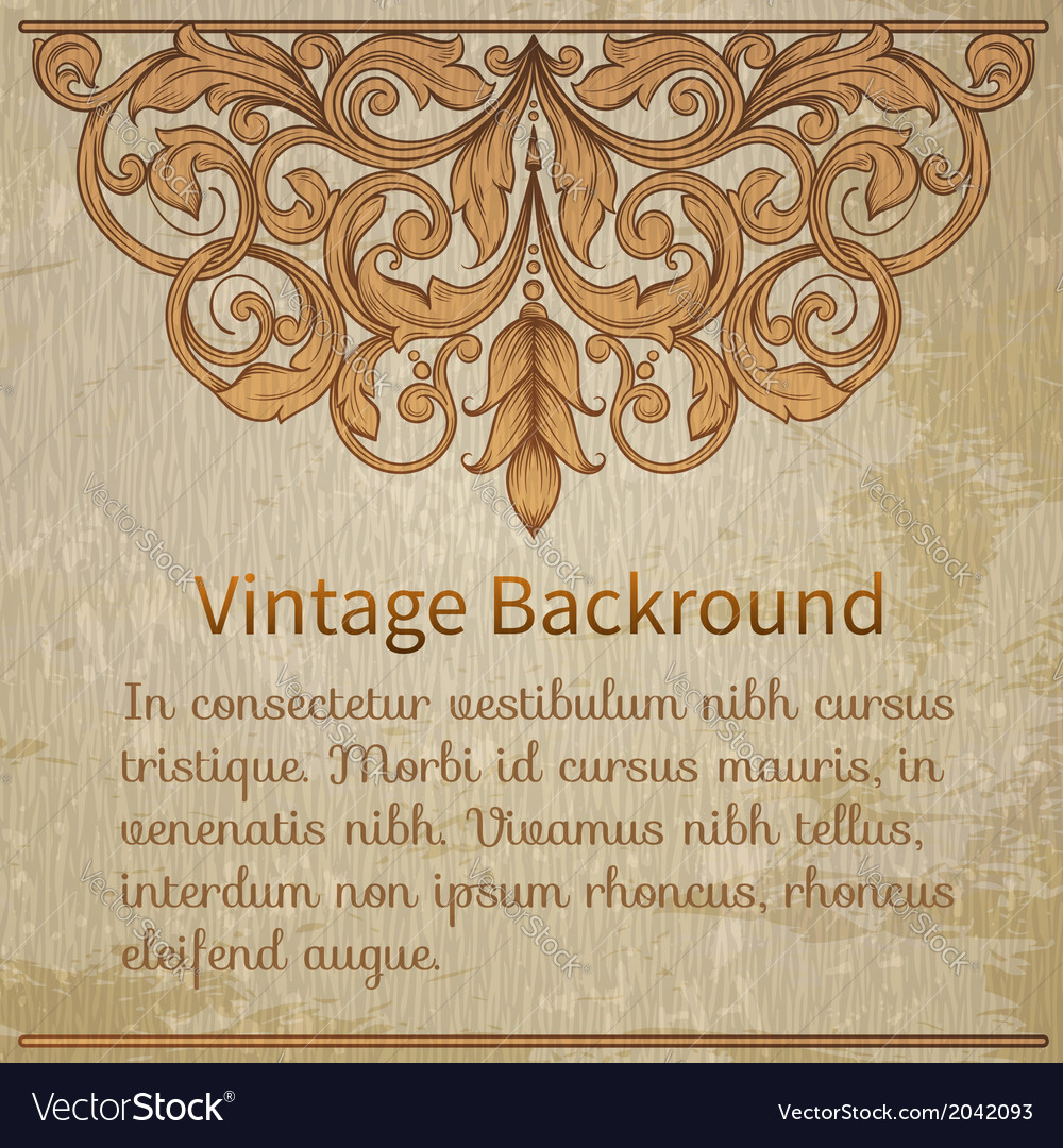 Vintage template with vintage elements vector | Price: 1 Credit (USD $1)