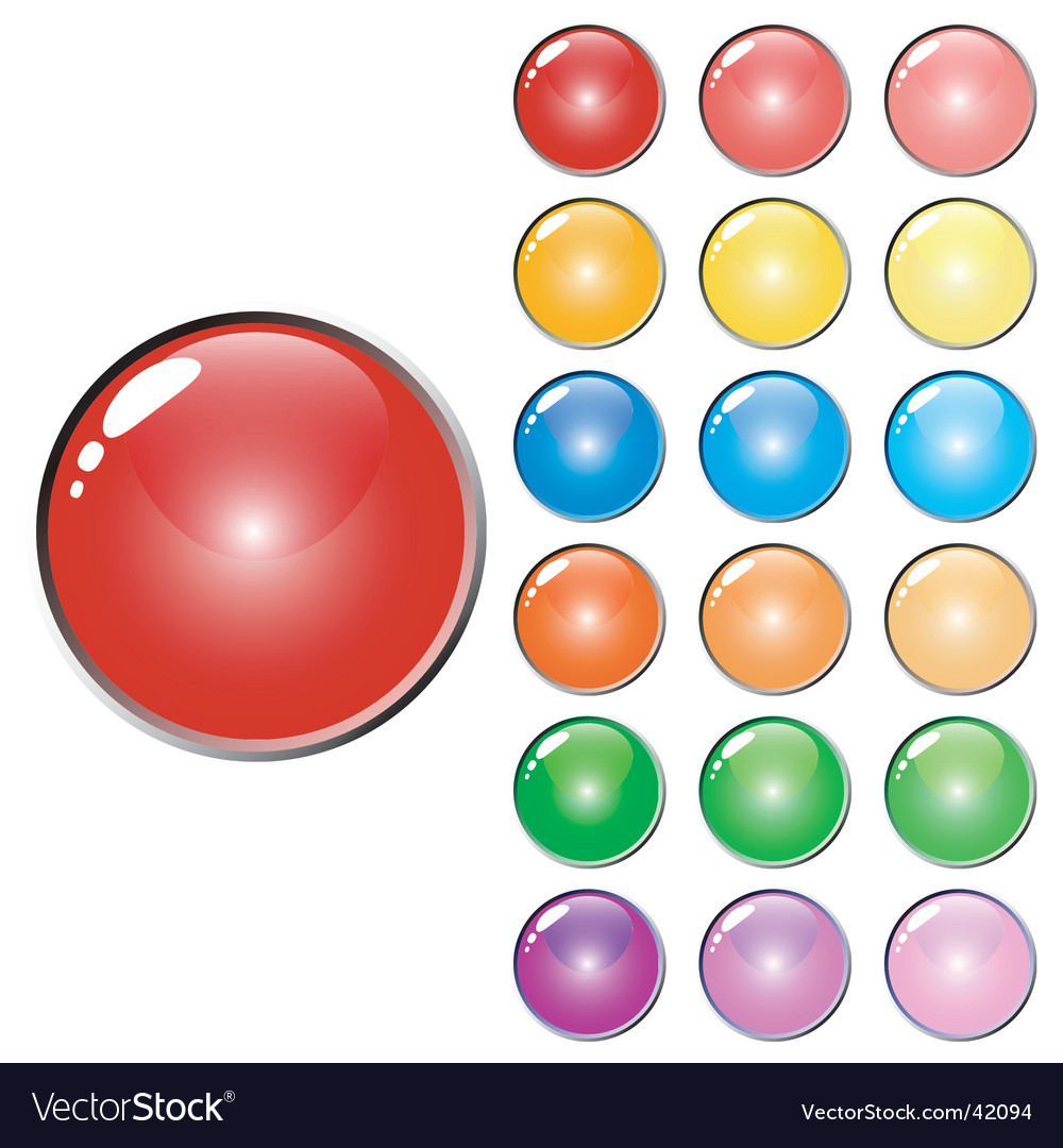 3d web glossy colored buttons vector | Price: 1 Credit (USD $1)