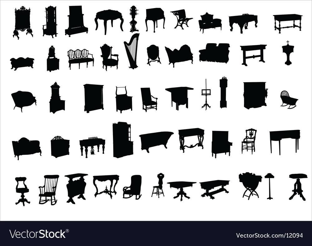 Ancient furniture vector | Price: 1 Credit (USD $1)