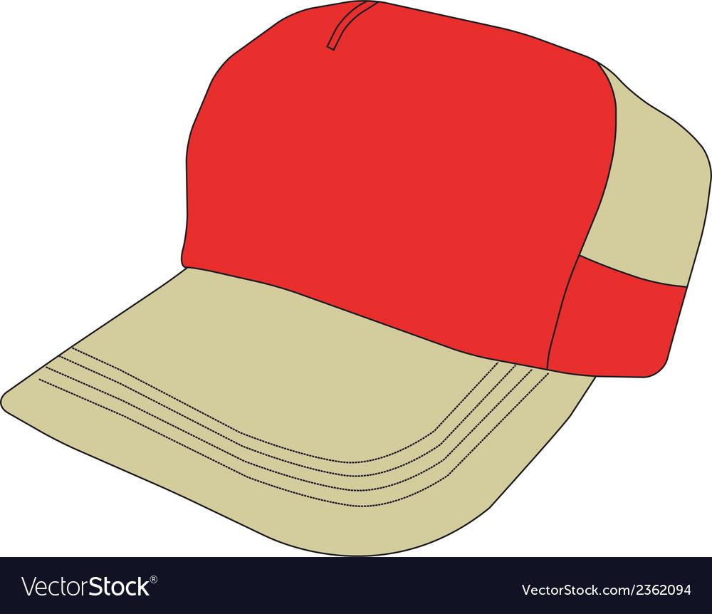 Baseball cap clipart design vector | Price: 1 Credit (USD $1)