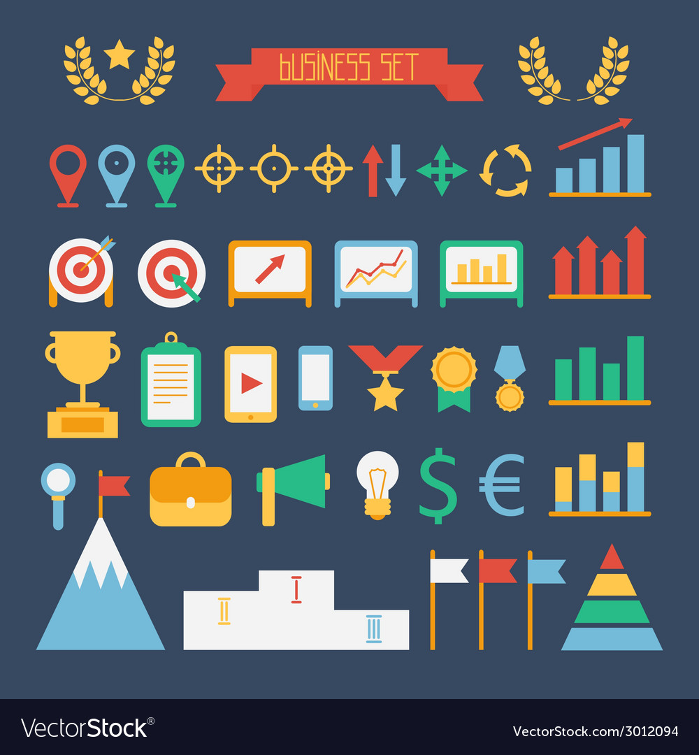Business and finance infographic design elements vector | Price: 1 Credit (USD $1)