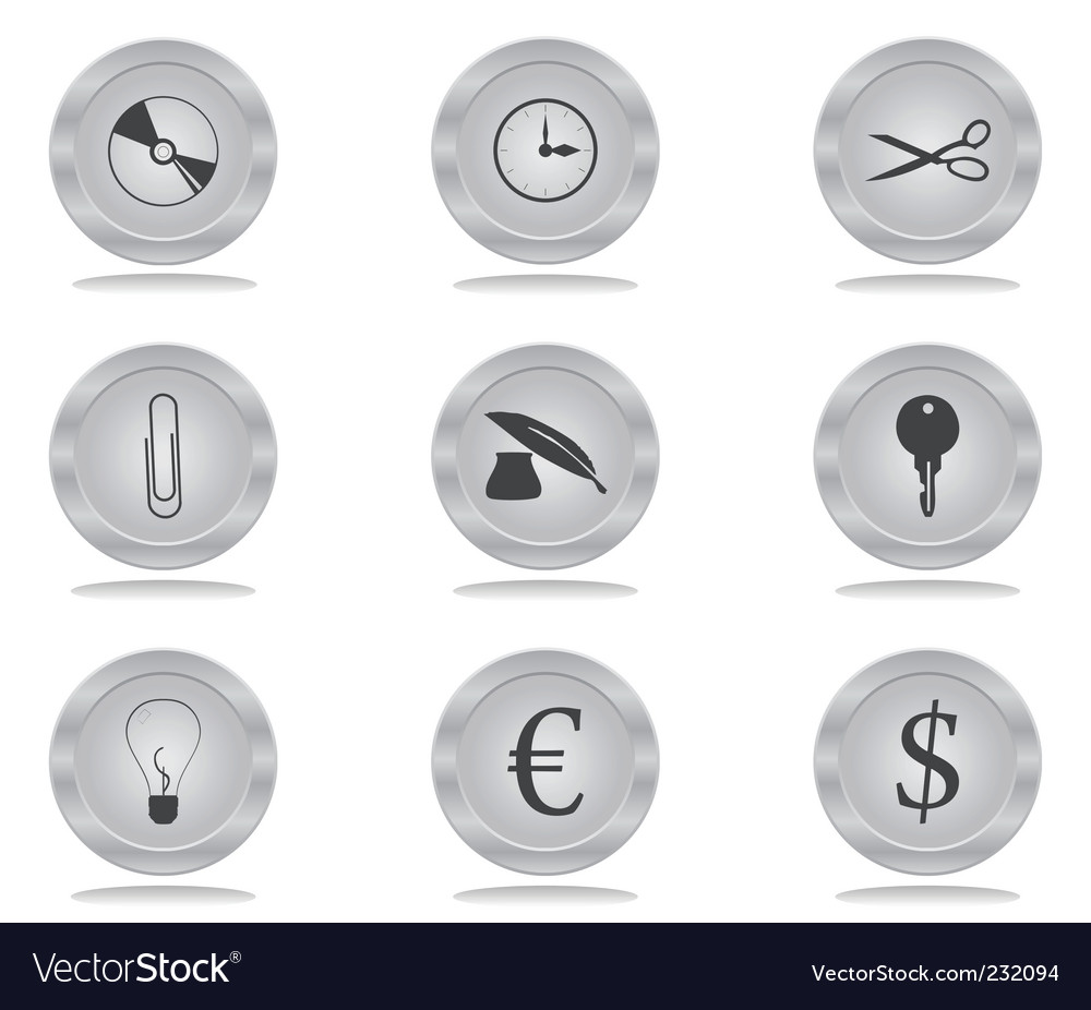 Buttons office vector | Price: 1 Credit (USD $1)