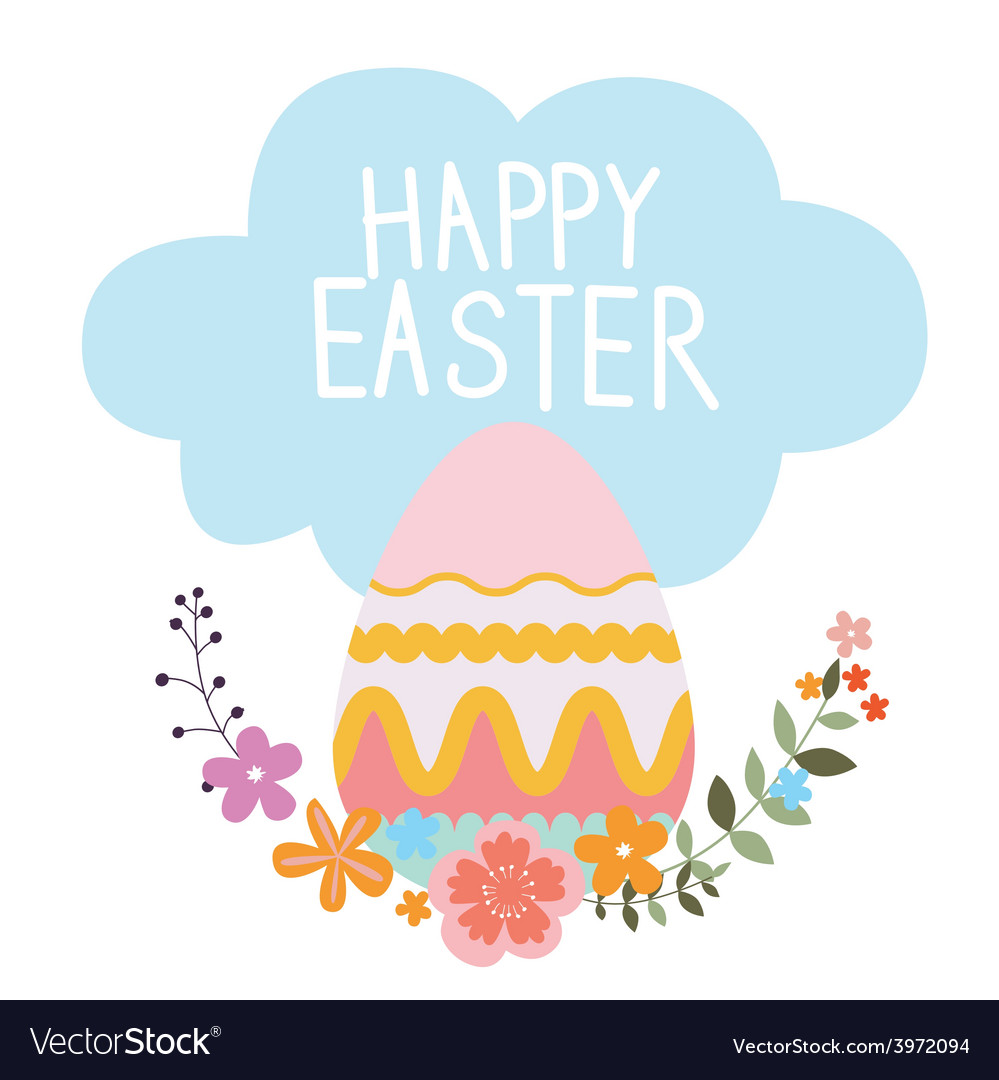 Easter design with egg vector   Price: 1 Credit (USD $1)
