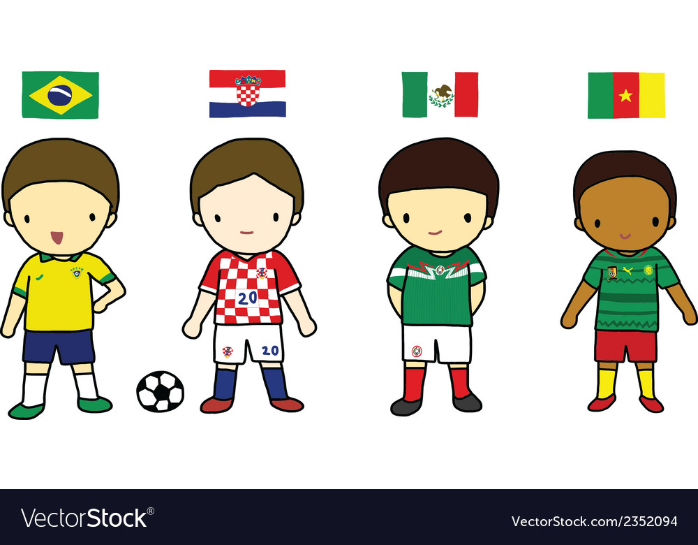 Fifa 2014 football players group a vector | Price: 1 Credit (USD $1)