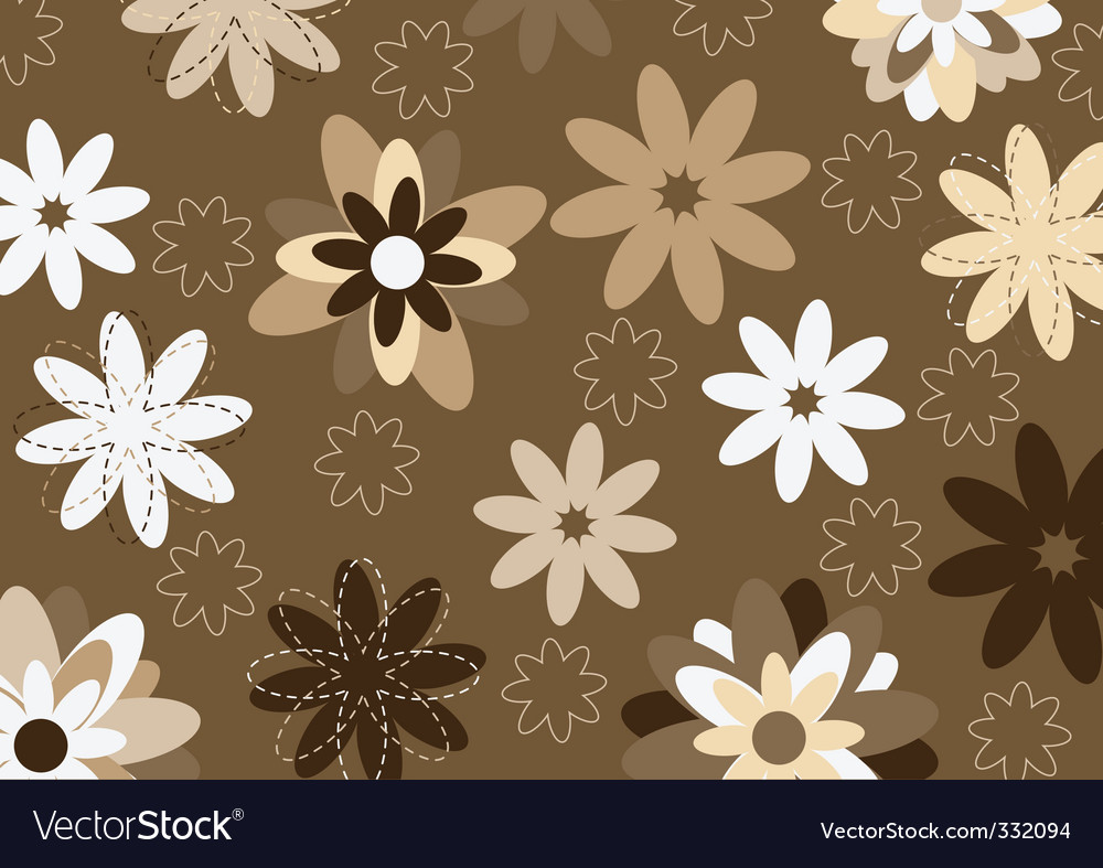 Funky flowers vector | Price: 1 Credit (USD $1)