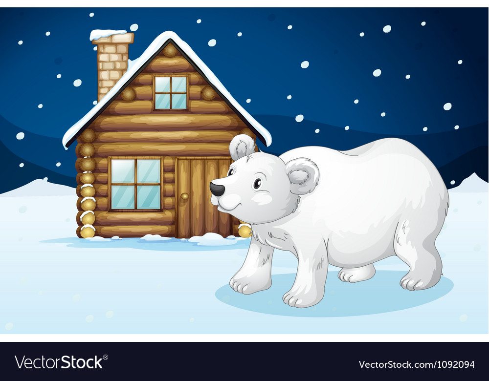 House and polar bear vector | Price: 1 Credit (USD $1)