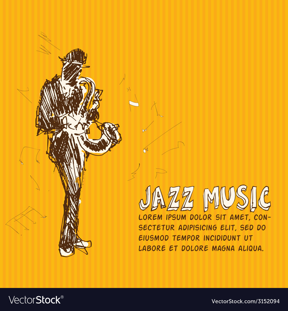 Jazz music vector | Price: 1 Credit (USD $1)